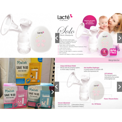 Lacte - Solo Single Electric Breastpump with Free Gift